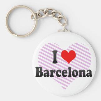 I Love Barcelona, Spain Keychain