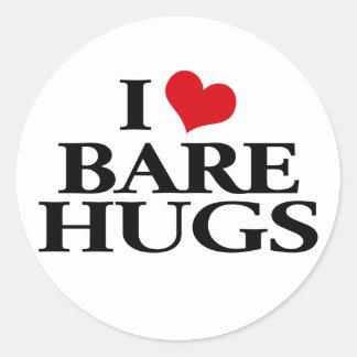 I Love Bare Hugs Classic Round Sticker