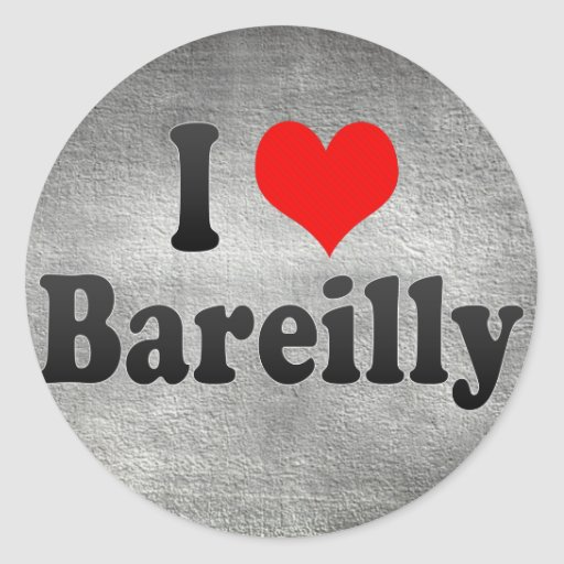 I Love Bareilly, India. Mera Pyar Bareilly, India Classic Round Sticker