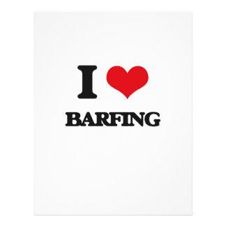 I Love Barfing Custom Flyer