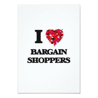 I Love Bargain Shoppers 3.5x5 Paper Invitation Card