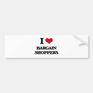 I Love Bargain Shoppers Bumper Stickers