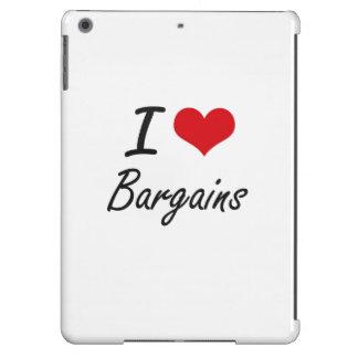 I Love Bargains Artistic Design iPad Air Covers