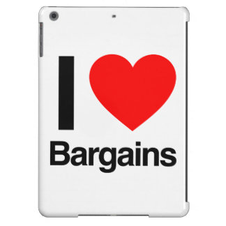 i love bargains iPad air covers