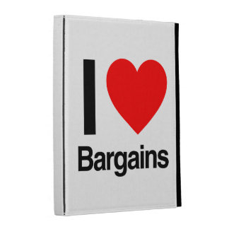 i love bargains iPad folio covers
