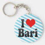 I Love Bari, Italy Keychain