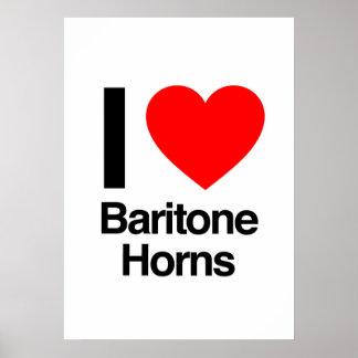 i love baritone horns poster