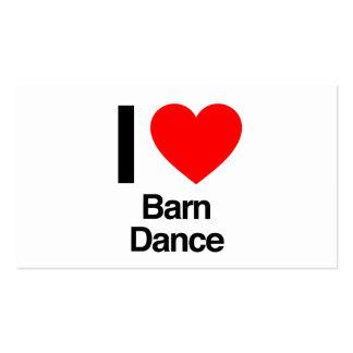 i love barn dance business card templates