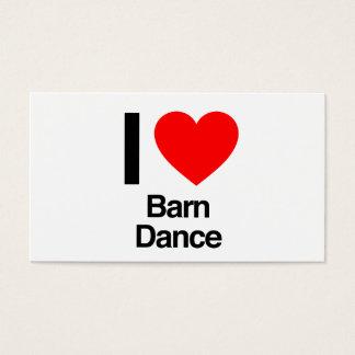 i love barn dance business card