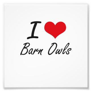 I love Barn Owls Photo Print