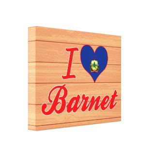 I Love Barnet, Vermont Stretched Canvas Print