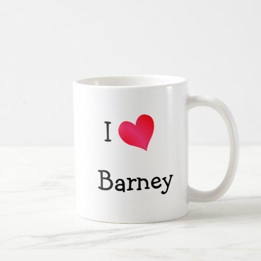 I Love Barney Mugs