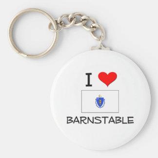 I Love Barnstable Massachusetts Keychain