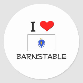 I Love Barnstable Massachusetts Stickers