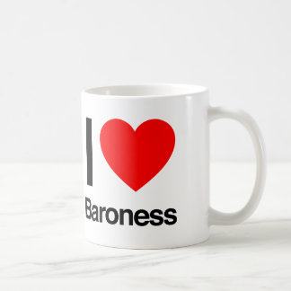 i love baroness coffee mug