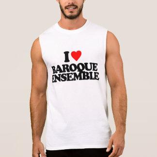 I LOVE BAROQUE ENSEMBLE SLEEVELESS SHIRT