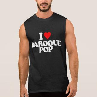 I LOVE BAROQUE POP SLEEVELESS SHIRT