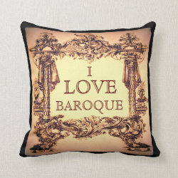 I Love Baroque Throw Cushion