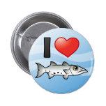 I Love Barracuda Pinback Buttons