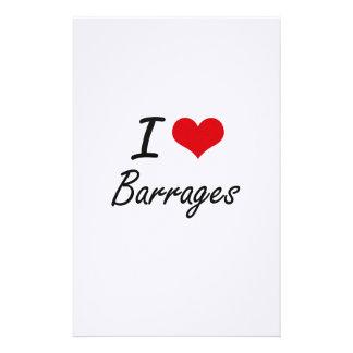 I Love Barrages Artistic Design Stationery