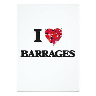 I Love Barrages 5x7 Paper Invitation Card
