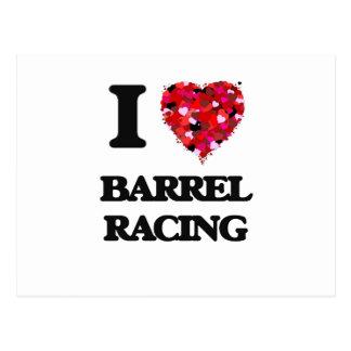 I Love Barrel Racing Postcard