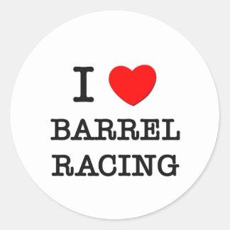 I Love Barrel Racing Sticker
