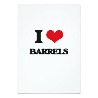I Love Barrels Personalized Announcement Cards