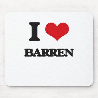I Love Barren Mousepad