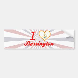 I Love Barrington, Rhode Island Bumper Sticker