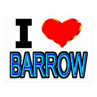 I Love Barrow Alaska Postcard