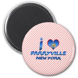 I love Barryville, New York 2 Inch Round Magnet