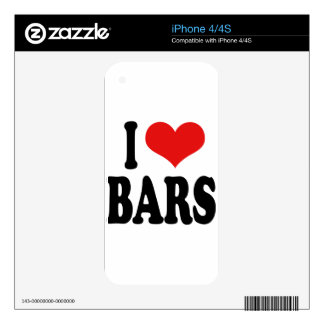 I Love Bars Decals For The iPhone 4S