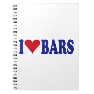 I Love Bars Notebook