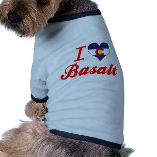 I Love Basalt, Colorado Dog Tee Shirt