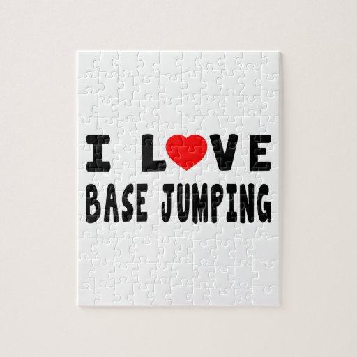 I Love Base Jumping Jigsaw Puzzles