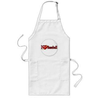 i-love-baseball-442 long apron