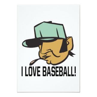 I Love Baseball 5x7 Paper Invitation Card
