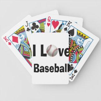 I Love Baseball Bicycle Playing Cards