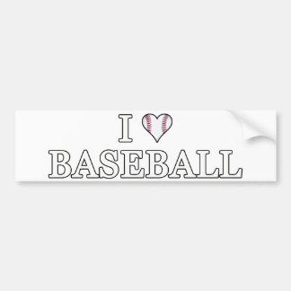 I Love Baseball Bumper Sticker