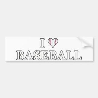I Love Baseball Bumper Sticker Car Bumper Sticker