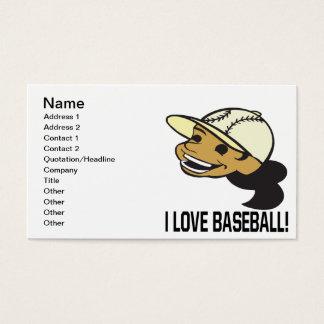 I Love Baseball Business Card