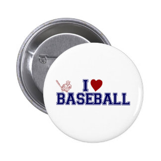 I Love Baseball Pin