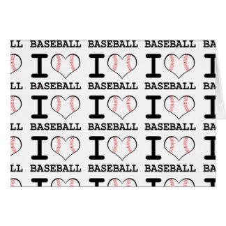 I Love Baseball Card