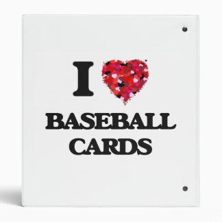 I Love Baseball Cards 3 Ring Binders