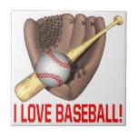 I Love Baseball Ceramic Tile