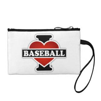 I Love Baseball Change Purse