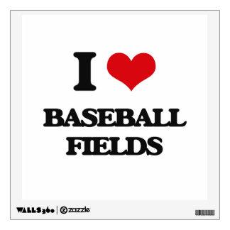 I love Baseball Fields Room Stickers