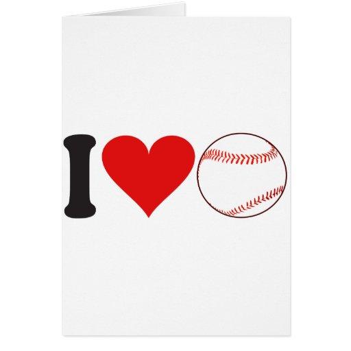 I Love Baseball * Greeting Card
