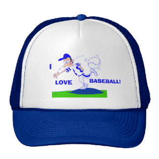 I Love BaseBall Hat